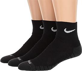 quality design e9090 11484 Dry Cushion Quarter Training Socks 3-Pair Pack. Nike