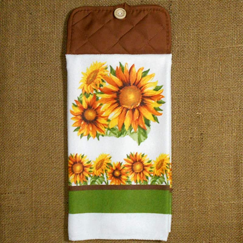 Sunflower Microfiber Hanging Dish Towel Kitchen Decor