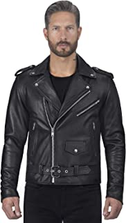 Angel Fire Premium Grade Cowhide Leather Motorcycle Jacket for Men