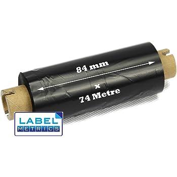 Zebra GK420T Black Thermal Transfer Wax Resin Ribbon Box Of 12 110mm x 74m