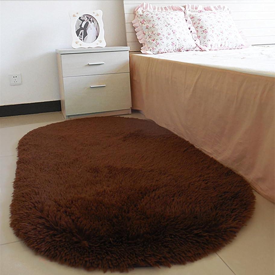 扱う一過性封筒1PCS バスルームカーペット 楕円形 吸収性 ソフト メモリカーペット リビングルーム サロンフロアラグ ノンスリップ バスマット
