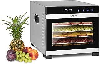 Klarstein Flavour Dry - Déshydrateur, 6 plateaux pour sécher les aliments, Température réglable de 35 à 75 °C, Répartition...