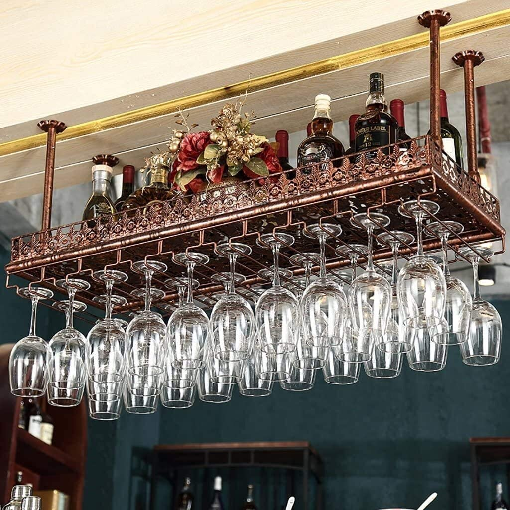 AERVEAL Don't miss the Indefinitely campaign Wine Storage Rack Wind Retro Rac Hanging Glass