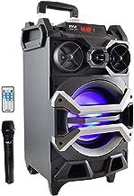 "Pyle 500 وات در فضای باز قابل حمل BT اتصال سیستم بلندگو کارائوکه - PA Stereo با 8 ""ساب ووفر، DJ چراغ میکروفن باتری قابل شارژ، قابلیت ضبط، MP3 / USB / SD / FM رادیو - PWMA325BT"