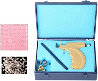 1Set Professional Steel Safety Ear Body Nose Lip Navel Piercing Gun Pierce Tool Beauty Kit with 108 Steel Ear Studs Asepsis Sign Pen and Storage Case