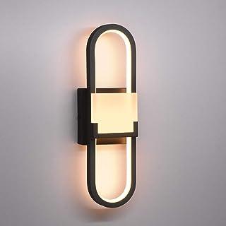 Wowatt LED Applique Murale Moderne Noire 18w Lampe Murale Intérieur 3000K Blanc Chaud Éclairage Spot Murale Décoration 220...