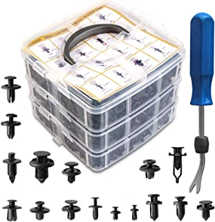Shineyoo Car Retainer Clips 620PCS Plastic Fasteners Kit Fender Rivet Clips 16 Most Popular Sizes...