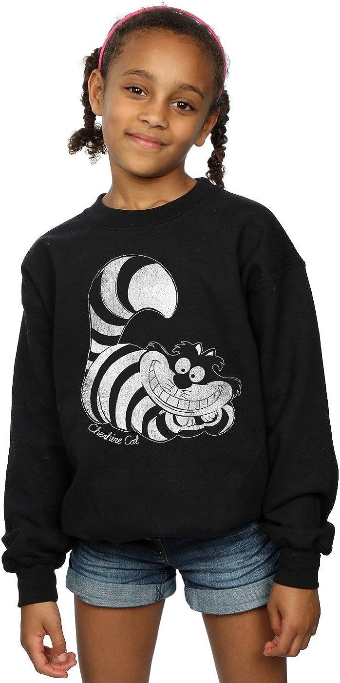 Disney Girls Alice in Wonderland Mono Cheshire Cat Sweatshirt