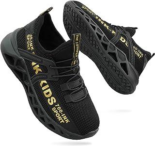ANBIWANGLUO Enfants Sneaker Chaussures Garçons et Filles Chaussures d'entraînement légères Chaussures de Course Respirantes