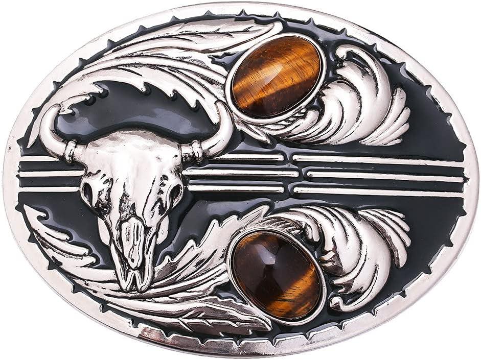 Regular dealer YFQHDD Gem Inlaid Belt Buckle Large discount Retro Western Cowboy Bu