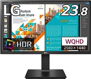 LG フレームレス モニター ディスプレイ 24QP550-B 23.8インチ/WQHD(2560×1440)/IPS非光沢/HDR/FreeSync/75Hz/HDMI×2,DP/高さ調節