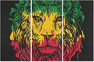 rasta lion painting