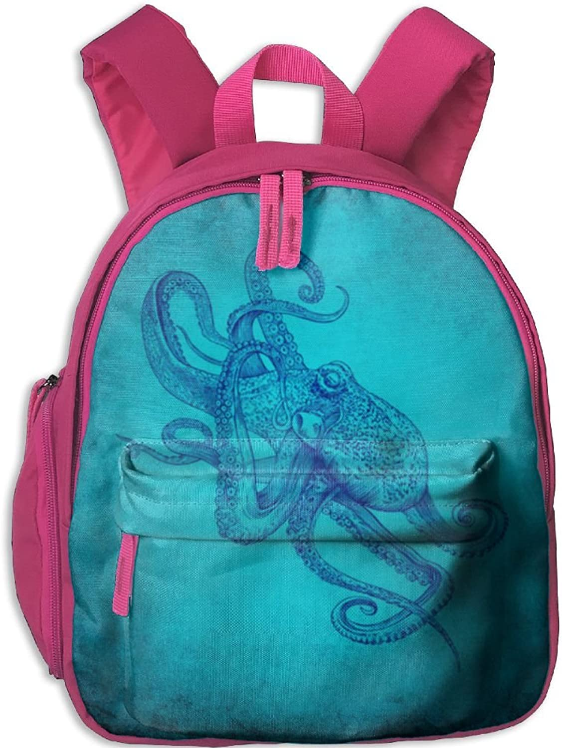 Pinta Light bluee Octopus Playful Cub Cool School Book Bag Backpacks for Girl's Boy's