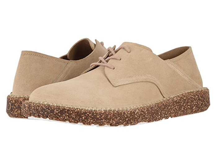 Retro Vintage Flats and Low Heel Shoes Birkenstock Gary Sand Suede Mens Lace up casual Shoes $139.95 AT vintagedancer.com
