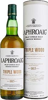 Laphroaig Triple Wood Islay Single Malt Scotch Whisky, mit Geschenkverpackung, einzigartig torfig-rauchig mit leichter Sherrysüße, 48% Vol, 1 x 0,7l