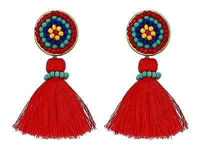 J.Crew Mini Tassel Earrings (Authentic Red) Earring