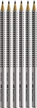 Faber-Castell 117697 - 6 Bleistifte GRIP 2001, Härtegrad: HB, Schaftfarbe: silber