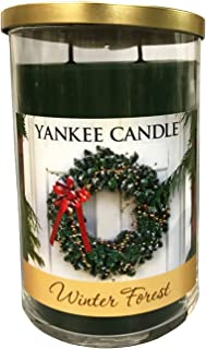 Winter Forest Double Wick Holiday Candle Glass Vessel 22 oz'