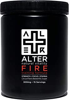 Alter+FIRE | Plant-Based Pre-Workout Formula | Maximize Performance & Endurance Naturally | Ultra-Clean. Professional-Grad...