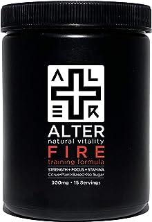 ALTER+FIRE | Elite Natural Pre-Workout Formula | Optimize Muscle + Mind + Metabolism | No Jitters, Crashing, Dependency | Plant-Based. Ultra Clean. Pro-Grade. | No Sugar, GMOs, Chemicals (15 Servings)