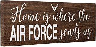 Home Is Where Air Force Sends Us Faux Wood CANVAS Wall Art