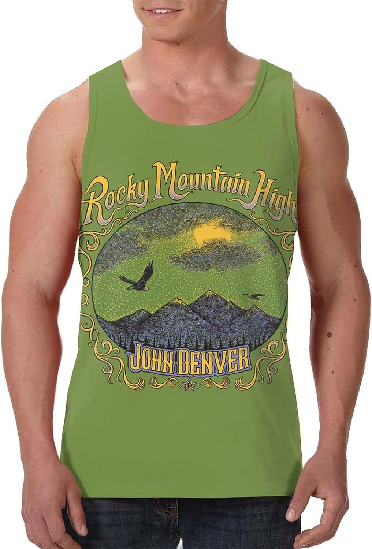 John Denver Rocky Mountain High Tank Top T Shirt Men Summer Fashion Crew Neck Clothes Sports Sleeveless Vest