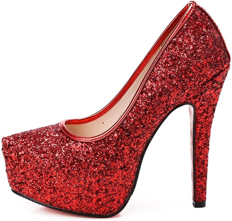 L @YC kvinnor sommar High klackar Damer Kristallvattentäta Kristallvattentäta Kristallvattentäta bord Fine med Sekiner Dans Sandals Dress Pump  billigt försäljning online