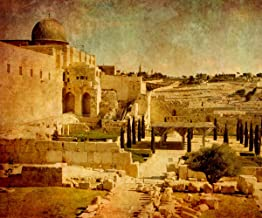 Gardenia 10x8ft Ruins in Old City Jerusalem Israel Pictorial Cloth Customized Photography Backdrop Digital Printed Background Photo Studio Prop 9110