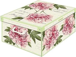Kanguru Boîte en carton, Pivoines, 42 x 32 x 10 cm