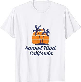 Sunset Blvd California CA Los Angeles Tourist Souvenir Gift T-Shirt