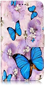 Case for Samsung Galaxy 2017  The Grafu  Galaxy 2017 Anti Scratch Leather and Shockproof TPU Full Body Protective Cover with Credit Card Slot  Butterfly