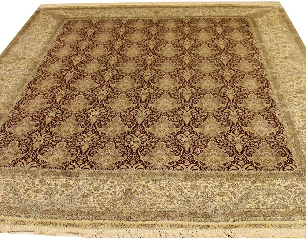 Camel Carpet 8'x10' Max Max 68% OFF 45% OFF Red Hand Knotted Oriental Silk Famoly Rug Ro