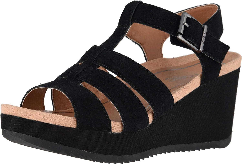 In stock Vionic Women's Hoola Tawny T-Strap sold out Sanda Wedge - Platform Ladies