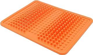 Foot Massager Mat, Acupressure Relaxation Reflexology Mat for Plantar Fasciitis, Heel, Arch Pain & Stress - Perfect Gift (Orange)