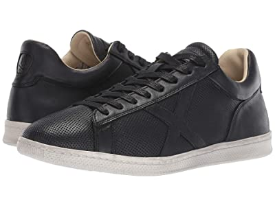 John Varvatos Soft Tumbled Calf Low Top (Black) Men