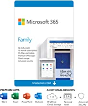Microsoft 365 Family | 12-Month Subscription, Up to 6 people | Premium Office Apps | 1TB OneDrive Cloud Storage | PC/Mac D...