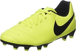 Nike Kids JR Tiempo Rio III Fg Volt/Black Volt Soccer Cleat 4.5 Kids US