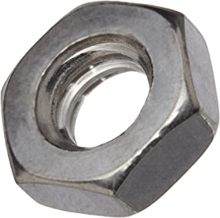 Pack of 100 ASME B18.2.2 316 Stainless Steel Hex Jam Nut 1//4-20 Thread Size 7//16 Width Across Flats 5//32 Thick Plain Finish