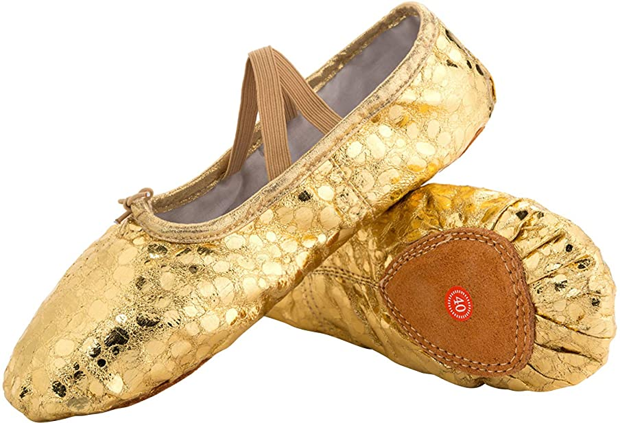 JOINFREE Girl's Women's Ballet Shoes Flat Dancing Slipper Canvas Vamp Leather Sole t4007953536