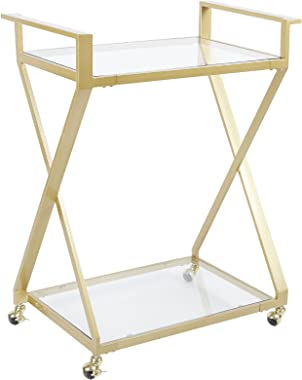 Silverwood Serving Cart, 16 L X 26 W X 34 H In In, Gold