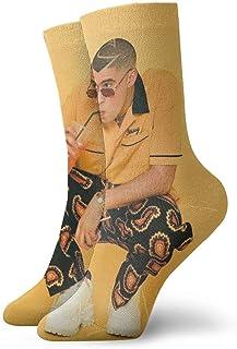 Lsjuee, Calcetines unisex 2020 Bad-Bunny Calcetines deportivos ligeros con cojín