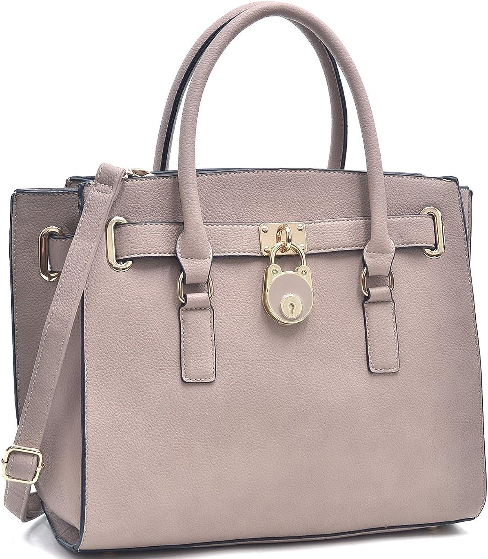 Dasein Handbags for Women Large Tote Purse Padlock Satchel Handbag Briefcase