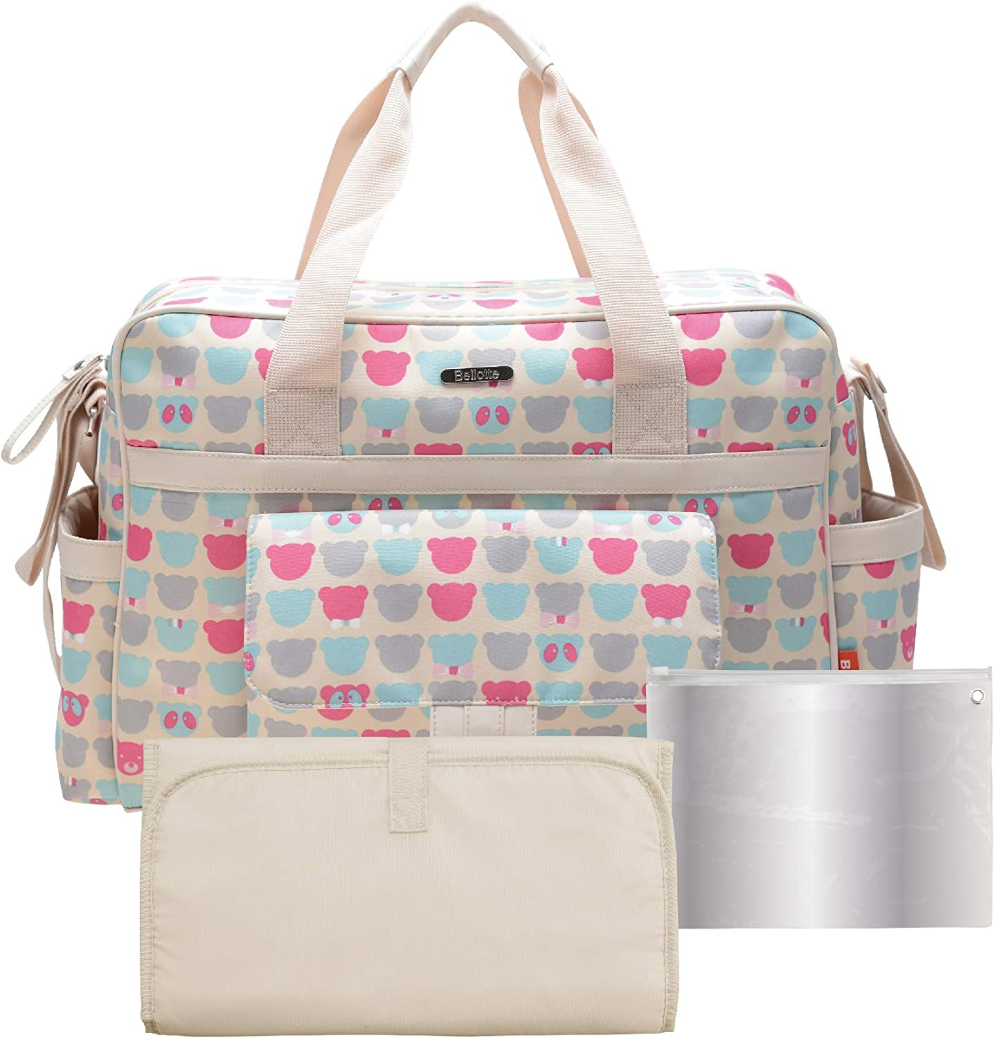 Bellotte Diaper Bag Tote Bags for Girl, Large Capacity, Stylish and Durable