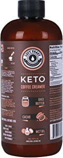Keto Coffee Creamer with MCT Oil, Ghee Butter, Cocoa Butter - 16oz / 32 Servings (Must Blend) - No Carb Keto Creamer for C...