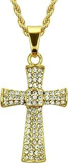 Hiphop Ketting, Ketting hiphop kruis ketting Europese stijl volledige sleutelbeen ketting ketting kruis 3 62 4 cm (gouden ...