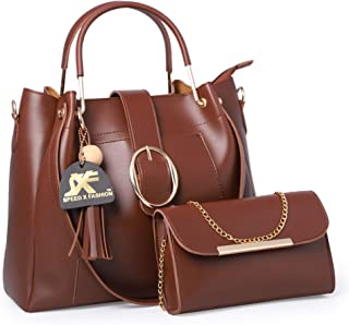 Speed X Fashion Women's Brown Hand Held Bag (Combo)