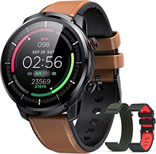 Reloj Inteligente Hombre, Hommie Smartwatch Hombre de Pantalla Táctil Ccompleta Impermeable IP68, Pulsera de Actividad Int...