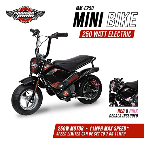 Monster Moto MM-E250-PR Black/Red/Pink Watt 250 W Electric