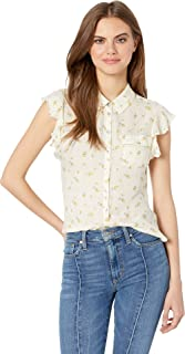 Women's Flutter Sleeve Button Down Shirt