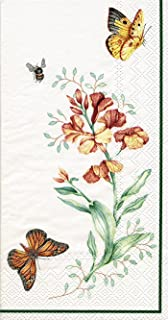 Lenox Butterfly Meadow 3-Ply Paper Guest Towels, Monarch, Pack of 16